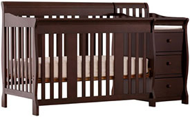 Stork Craft Portofino 4 In 1 Fixed Side Convertible Crib And Changer