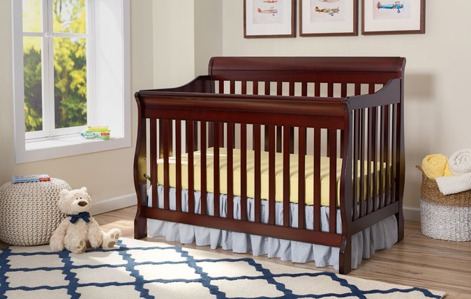 Delta Children Canton 4-in-1 Convertible Crib-in room