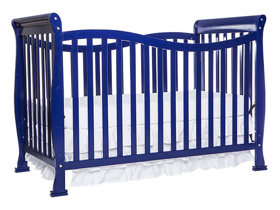 Dream On Me Violet 7-in-1 Convertible Life Style Crib Royal Blue