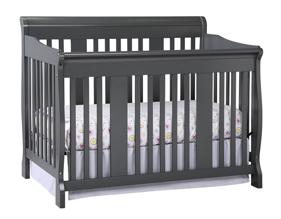 Stork Craft Tuscany 4-in-1 Convertible Crib Gray