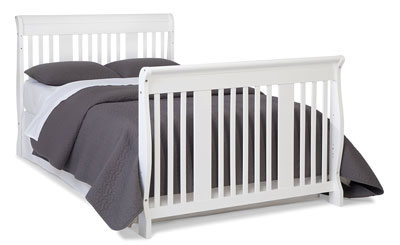 Stork Craft Tuscany 4-in-1 Convertible Crib in White