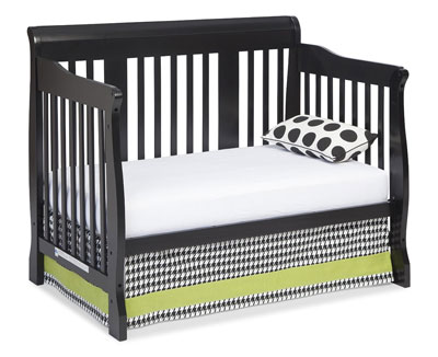 Stork Craft Tuscany 4-in-1 Convertible Crib in black