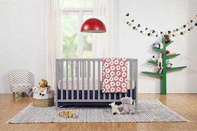Union 3-in-1 Convertible Crib Grey Finish