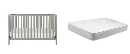 Union 4-in-1 Convertible Crib + Davinci Twilight Hypoallergenic Deluxe Crib Mattress
